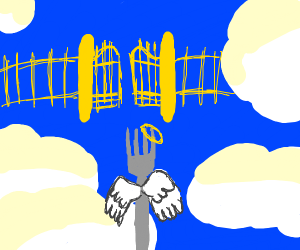 Fork Angel going up to heaven