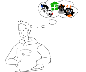 dude thinks about homestuck (?)