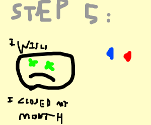 STEP 3-pukeouttheredpillandtakethebluepill