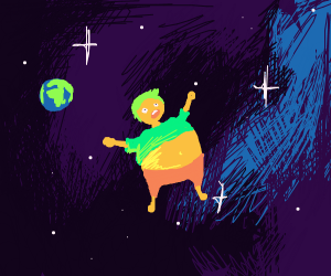 A big belly in space