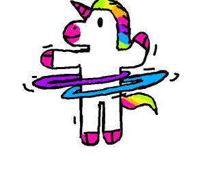 Hula Hooping Unicorn