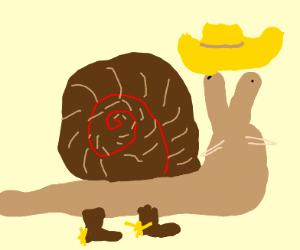 cowboy snail