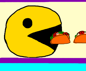 pacman loves them tacos