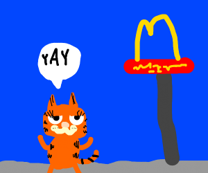 Cat loves McDonalds