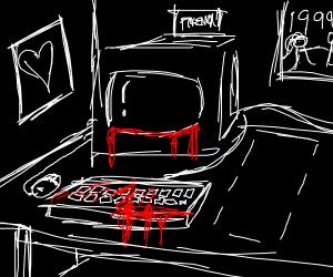 Bloody keyboard, old monitor, no PC...