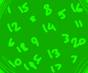It's a number on a green background, bruh