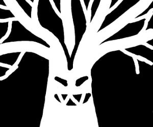 demon tree face