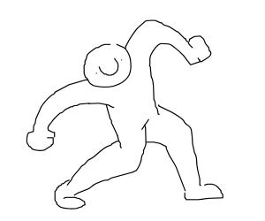 Dancing man with humongous nose