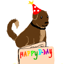 Happy Birthday from dog