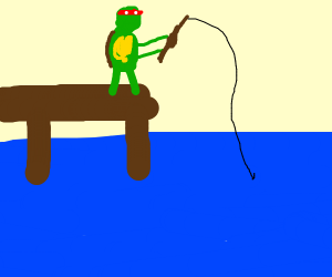 ninja turtle fishing