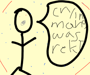 Stick figure says crying man was rekt