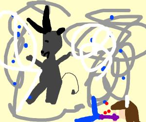 Minotaur in a Cyclone