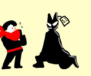 Dollar Store Batman destroys a gangster