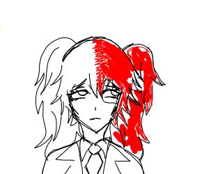 Todoroki as a girl