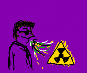 Guy with sunglasses inhaling toxins