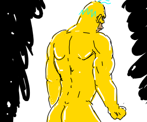 supersayan naked homer simpson