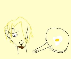 Sanji cooks a egg. :0