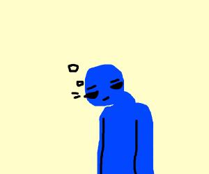 tierd blue man