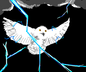Hedwig with lightning powers