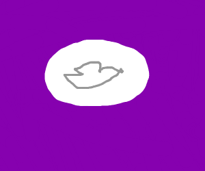 Dove with purple background