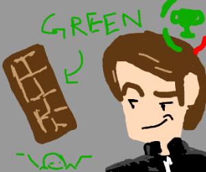 mat pat smugs at green chocolate bar