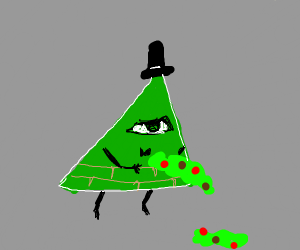 a green bill cipher is barfing poison