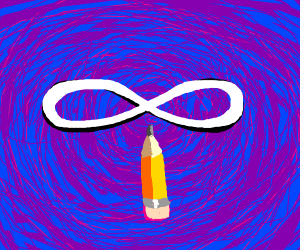 abnormally short pencil with infinity sign