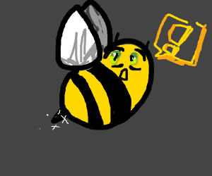 Anime girl bee