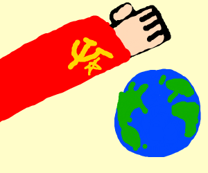 Communism man crushes Earth