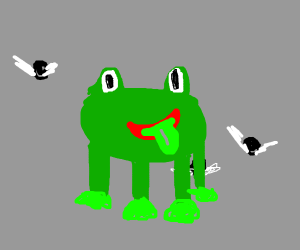 Sly frog.
