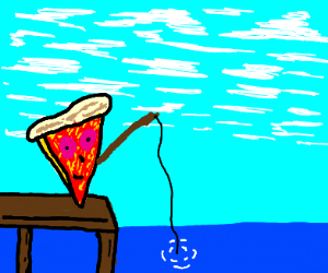 Pizza Fishing!