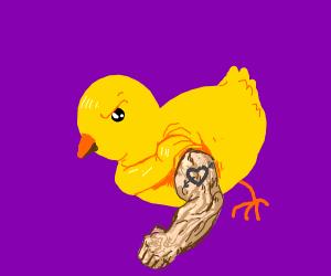 Bird shows off buff arm tattoo