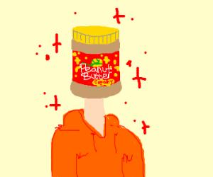 peanut butter head man