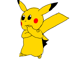 Pikachu in deep thoughts