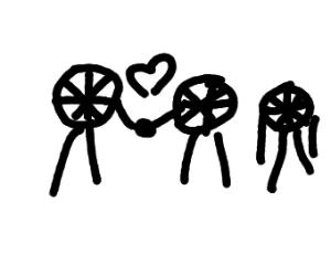 third wheel (with legs)