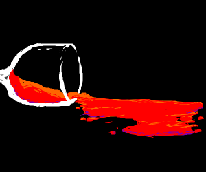someone spilled red wine