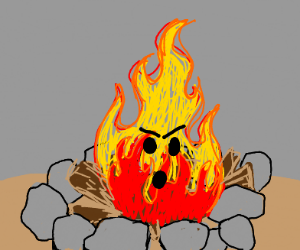 Angry alive campfire