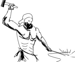 Dirty blacksmith