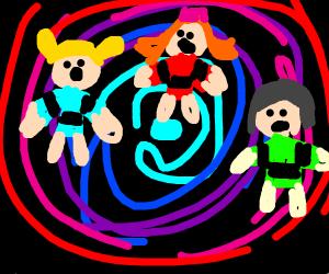 The power puff girls enter a portal