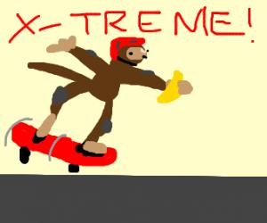 Extreme Monkey Skateboarding