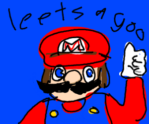 poorly drawn mario