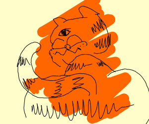 poorly drawn Garfield