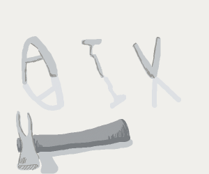 A nail between an A and a V