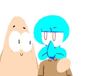 Squidward and Patrick Hanging Out