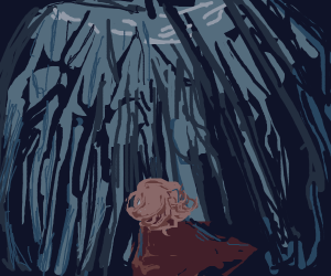 Girl lost in the wood