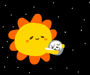 Sun and moon cuddle