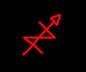 Mix of nazi symbol, male symbol and ussr