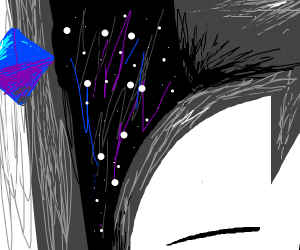 Asian woman in space