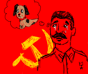 Stalin crying about dogs