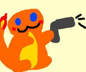 charmander with a gun